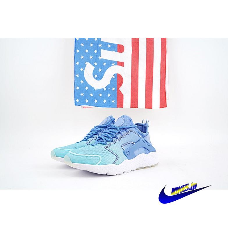 靴 シューズ スニーカー Nike Air Huarache Run Ultra Print エア ハラチ ラン ウルトラ ウィメンズ 833292-401 Blue ブルー 青