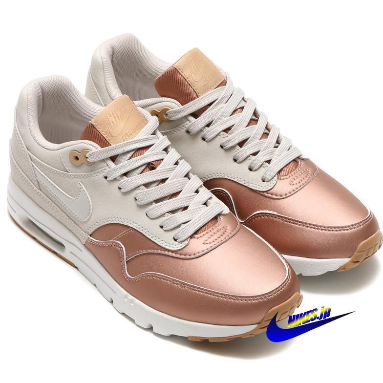 靴 シューズ スニーカー ナイキ ウィメンズエアマックス1ウルトラ NIKE WMNS AIR MAX 1 ULTRA SE レディース&メンズ 861711-001 light bone/metallic red bronze ライトボーン/メタリックレッドブロンズ