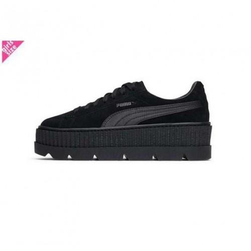 """RIHANNA x PUMA FENTY """"CLEATED CREEPER SUEDE"""" Black 366268-04 プーマ クリエイテッド クリーパー スエード フェンティー リアーナ ブラック 女 レディース/ウィメンズ スニーカー靴"""