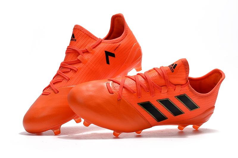 17SS 新作 adidas ACE 17.1 Leather FG アディダス エース 17.1 レザー S77043 Solar Red/Solar Orange/Core Black オレンジ×ブラック MENS メンズ サッカースパイク